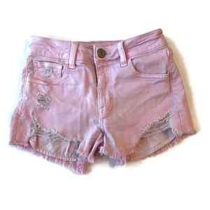 American Eagle Outfitters Hi Rise Pink Shortie